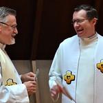 A few laughs before Mass begins