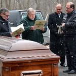 Fr. Bill leads the last prayers