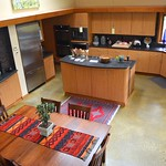 The kitchen and dining area