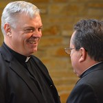 Fr. Zbigniew Morawiec, SCJ, and Fr. Jack Kurps, SCJ. Fr. Ziggy was one of the afternoon respondents.