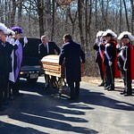 Bringing Fr. Mike to his final resting place
