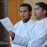 The novices, Phong and Henry, served at the Mass