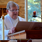 Fr. Bill does the first reading